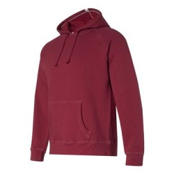 Vintage Hooded Sweatshirt with Contrast Color Stitching