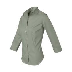 Women's Three-Quarter Sleeve Baby Twill Shirt