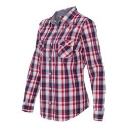 Vintage Women's Plaid Long Sleeve Shirt