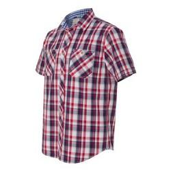 Vintage Plaid Short Sleeve Shirt