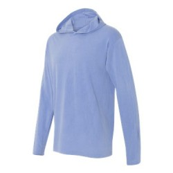 Garment-Dyed Heavyweight Hooded Long Sleeve T-Shirt