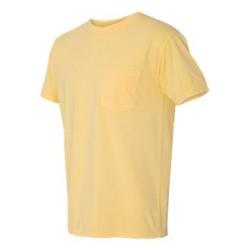Garment Dyed Heavyweight Ringspun Short Sleeve Shirt with a Pocket
