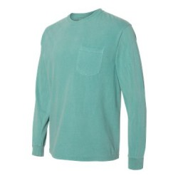Garment-Dyed Heavyweight Long Sleeve Pocket T-Shirt