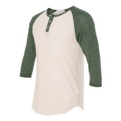 Eco-Jersey™ Three-Quarter Sleeve Raglan Henley