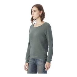 Slouchy Washed Slub Pullover Sweatshirt