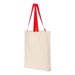 11L Canvas Tote with Contrast-Color Handles