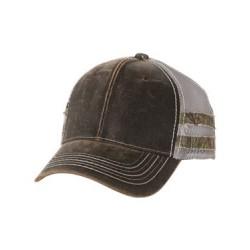 Frayed Camo Stripes Mesh-Back Cap