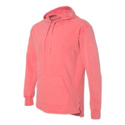 Garment-Dyed French Terry Scuba Neck Hooded Pullover
