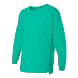 Garment-Dyed Drop-Shoulder Long Sleeve T-Shirt