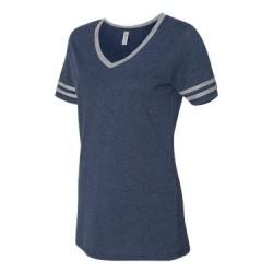 Triblend Women's V-Neck Varsity T-Shirt