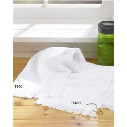 Fringed Hand Towel with Corner Grommet and Hook