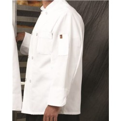 Button Chef Coat with Thermometer Pocket