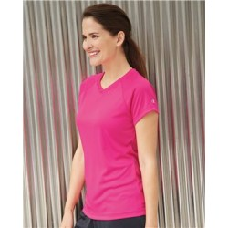 Double Dry Women's V-Neck Performance T-Shirt