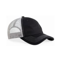 Contrast-Stitch Mesh-Back Cap