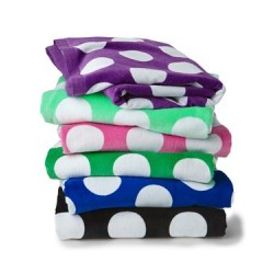 Polka Dot Velour Beach Towel