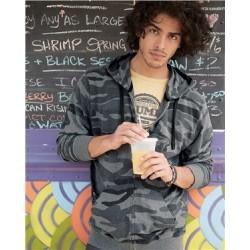 Camo Hooded Full-Zip Sweatshirt
