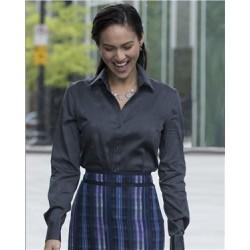 Women's Non-Iron Micro Pincord Long Sleeve Shirt
