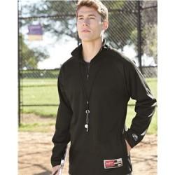 Full-Zip Flatback Mesh Fleece Jacket