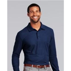 DryBlend® Double Piqué Long Sleeve Sport Shirt