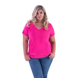 Curvy Collection Women's Premium Jersey V-Neck Tee