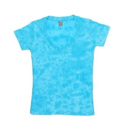 Caitlin Ladies Tie-Dye V-Neck Tee