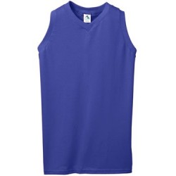 Girls' Sleeveless V-Neck Jersey