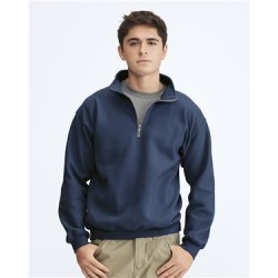 Garment-Dyed Quarter Zip Sweatshirt