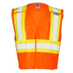 Contrasting Mesh Breakaway Vest