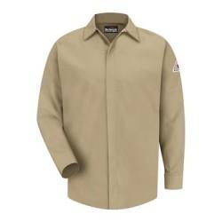 Concealed-Gripper Pocketless Work Shirt