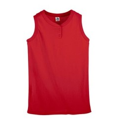 Girls' Sleeveless Two-Button Softball Jersey