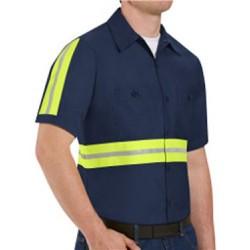 Enhanced Visibility Industrial Work Shirt