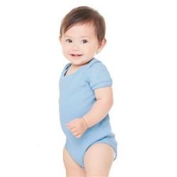 Infant Baby Rib Short Sleeve Creeper