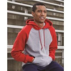 Dri Power® Colorblock Raglan Hooded Sweatshirt