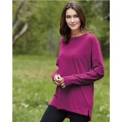 Garment-Dyed Drop-Shoulder Long Sleeve T-Shirt