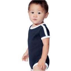 Infant Soccer Ringer Fine Jersey Bodysuit