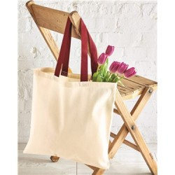Contrasting Handles Tote