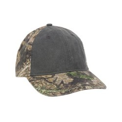 Camo with Pigment-Dyed Twill Front Cap