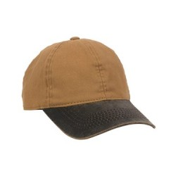 Canvas Cap with Weathered Cotton Visor