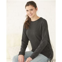 Enzyme Washed Women's Rally Lace-up Crewneck