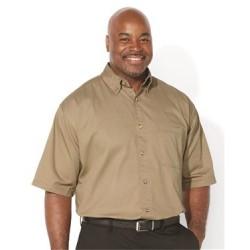 Short Sleeve Cotton Twill Shirt Tall Sizes