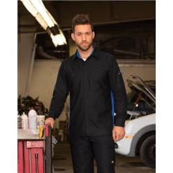Men's Performance Plus Long Sleeve Shop Shirt with Oilblok Technology