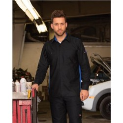 Men's Performance Plus Long Sleeve Shop Shirt with Oilblok Technology - Long Sizes