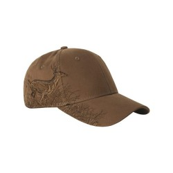 Brown Running Buck Cap