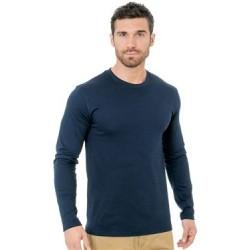 Unisex Fine Jersey Long Sleeve Crewneck T-Shirt