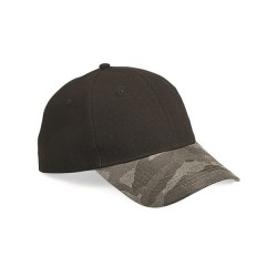 Canvas Crown with Weathered Camo Visor Cap