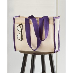 14L Tote with Contrast-Color Handles