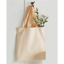 Economical Tote with Contrast-Color Handles