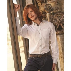 Peached Poplin Long Sleeve Shirt
