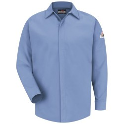Concealed-Gripper Pocketless Long Sleeve Shirt - CoolTouch® 2 - Long Sizes