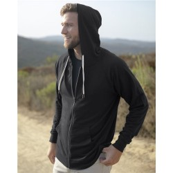 Icon Unisex Lightweight Loopback Terry Full-Zip Hooded Sweatshirt